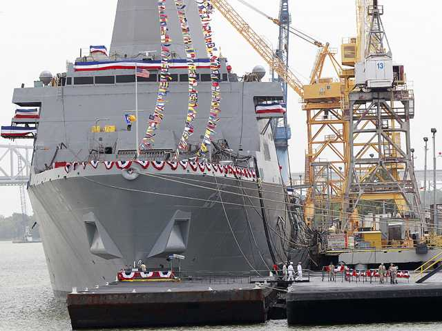 Navy christens last of 3 ships honoring 9/11 sites 