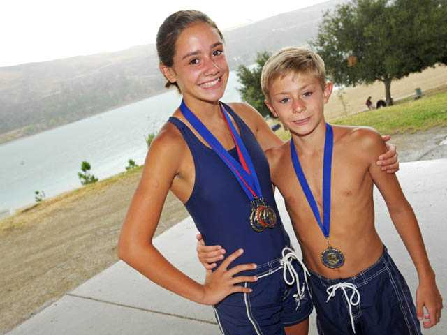 Kids swim to cope with grief