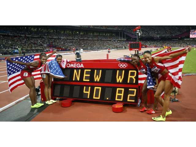 Local Olympians: Felix, U.S. relay team break world record