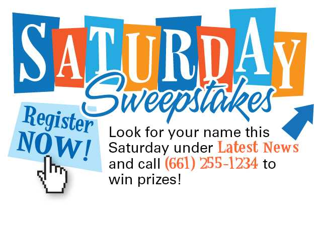 Winner in sweepstakes