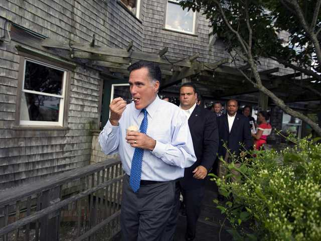 For Romney: no coffee, but coffee ice cream OK