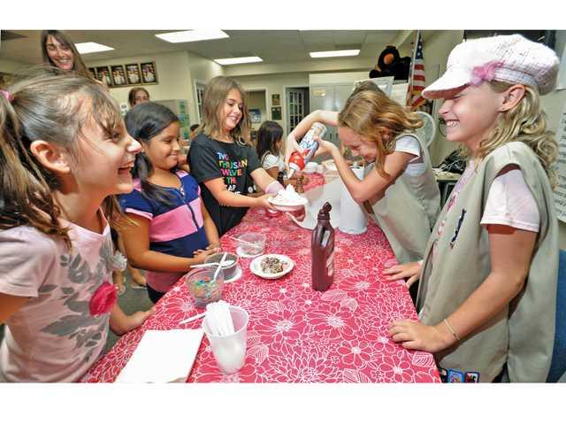 Girl Scouts scream for ice cream