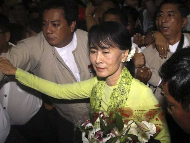 Myanmar's Suu Kyi begins landmark US visit