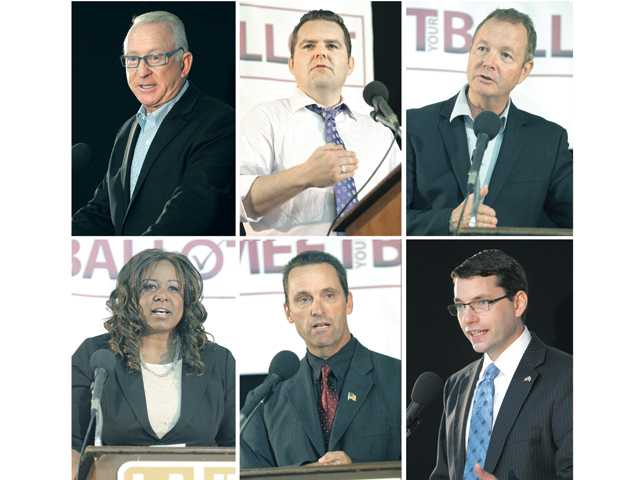 Candidates take turns on stage in bid to receive votes come November
