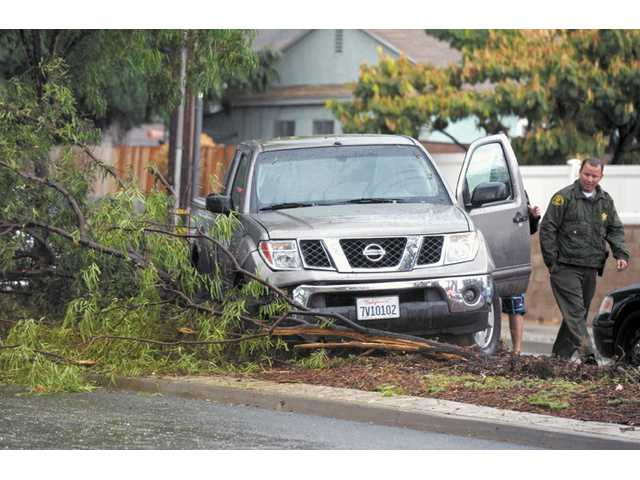 Severe weather hits the SCV