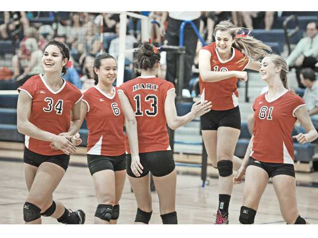 Prep volleyball:  Hart repeats performance