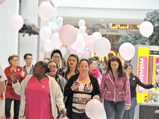 A parade of pink to battle breast cancer