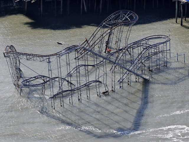 Coaster submerged by Sandy may stay put