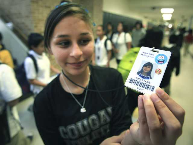Suit targets 'locator' chips in Texas student IDs