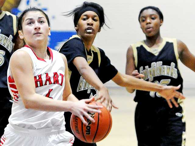 Prep basketball: Pressure gets to Hart