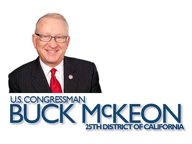 This just in from Rep. Buck McKeon's office