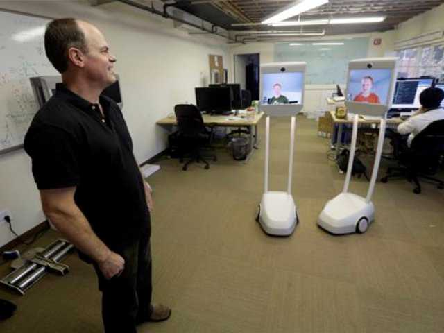 Telepresence robots let employees 'beam' into work