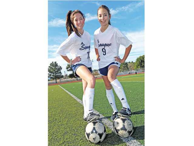 2013 Foothill League girls soccer preview: Saugus' Brenna Savoie and Alanna Shaw, Shifting places