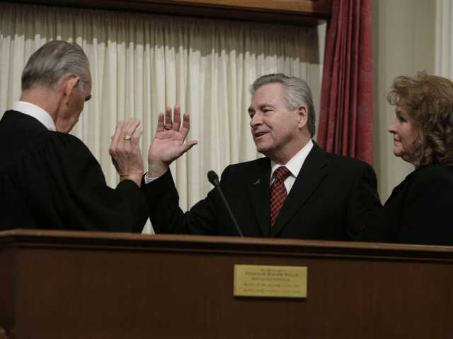 Special election winner sworn in to Senate seat