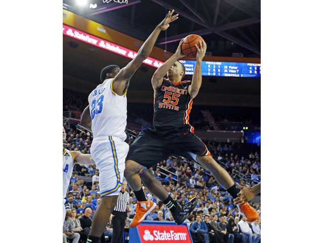 No. 24 UCLA beats Oregon St. 74-64