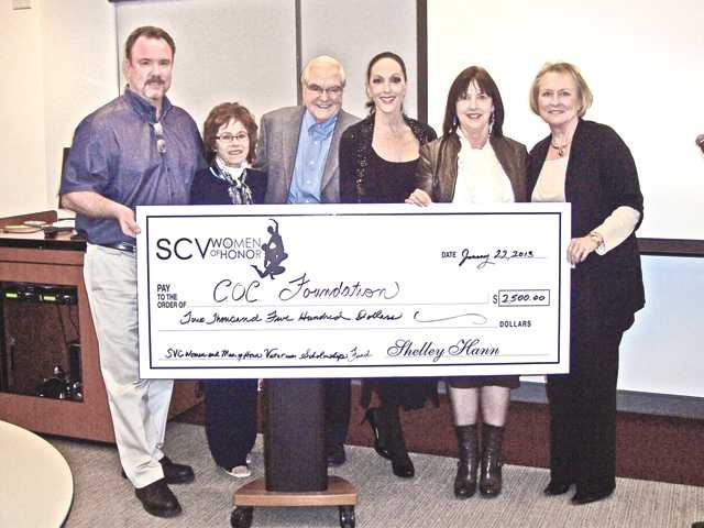 Veterans scholarship donation