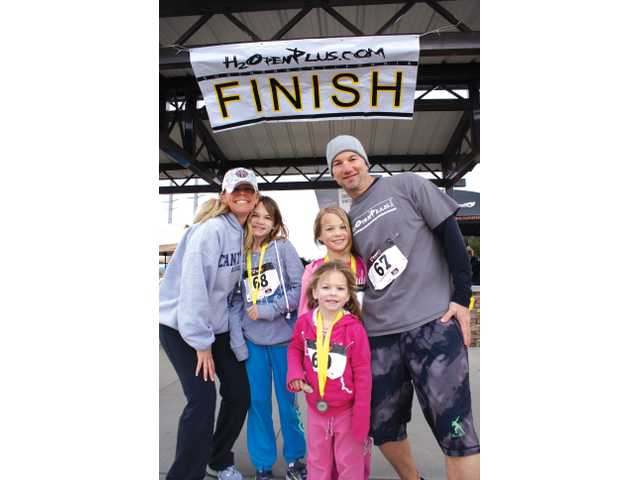 Finish line sees young, old