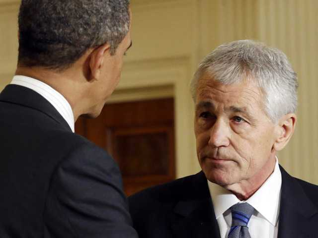 Hagel supports nuclear arms cuts, then elimination 
