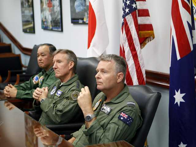 Jets roar as US, Japan, Australia drill in Pacific