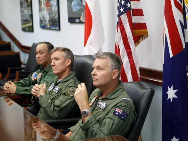 Jets roar as US, Japan, Australia drill in Pacific