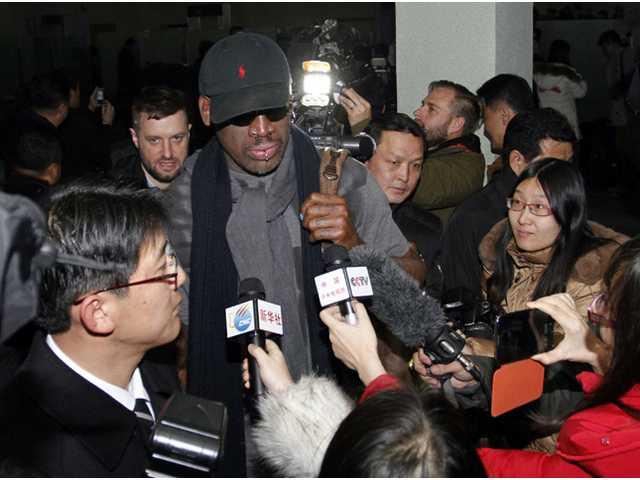 Dennis Rodman worms his way into North Korea