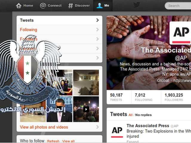 Associated Press' Twitter hacked, Syrian group takes responsibility