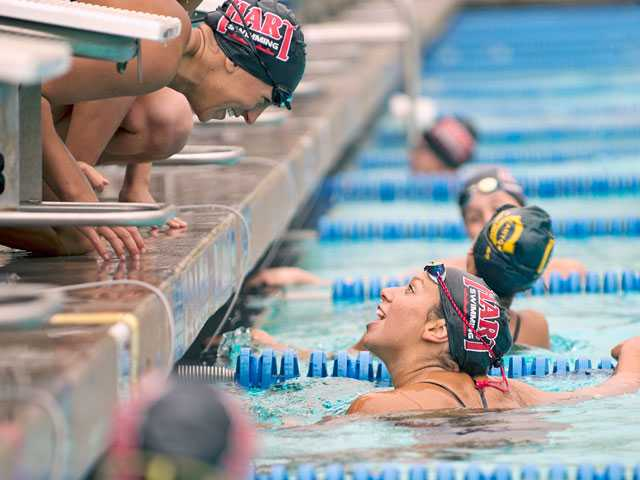 Short-handed win for Hart swim over Canyon