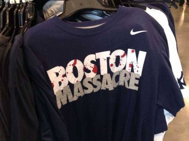 EBay pulls 'Boston Massacre' T-shirt from website