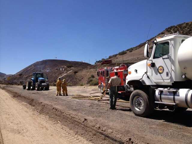 Ten acre fire quickly knocked down near Gorman