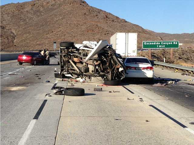 UPDATE: Wrong-way driver suspected in multiple-car pileup on 14
