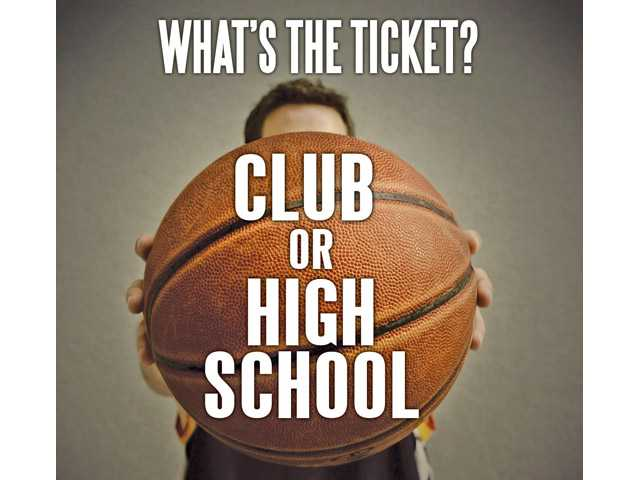 Ticket to the next level in basketball: Club or high school?