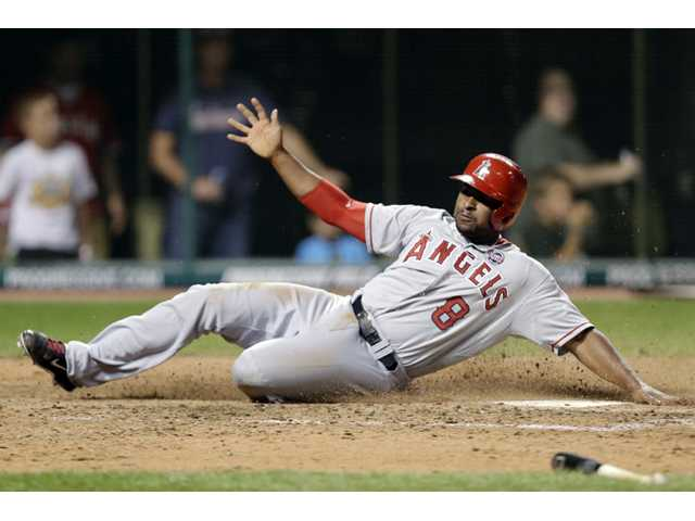 Angels send Indians to sixth straight defeat
