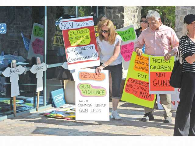 Anti-gun rally hits McKeon's Valencia office