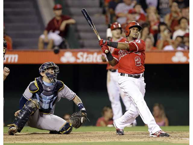 Richards helps Angels pound Rays