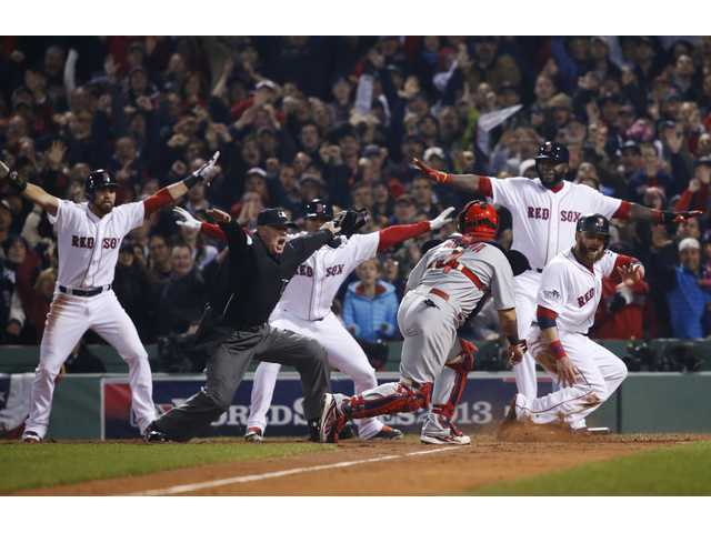 Red Sox win WS title, beat Cards 6-1 in Game 6