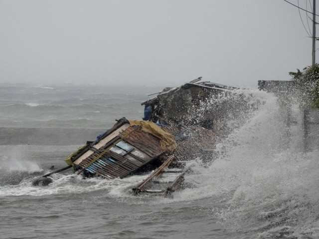 One of world's strongest storms lashes Philippines