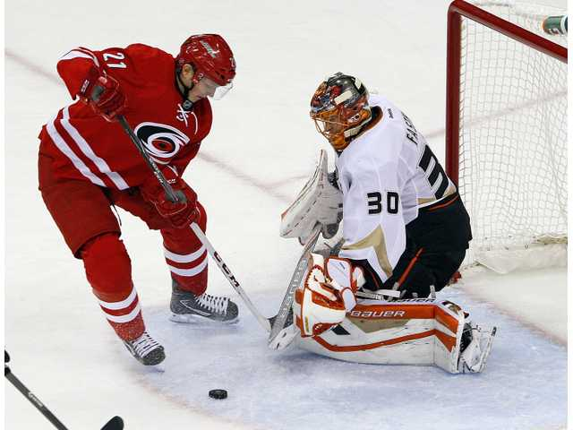 Ducks outlasted by Canes in shootout