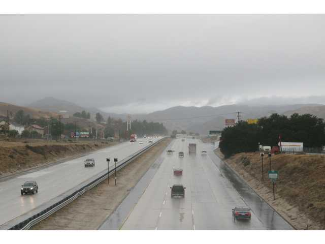 Wintery weather closes Interstate 5 through the Grapevine