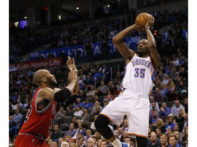 NBA roundup: Durant leads streaking Thunder