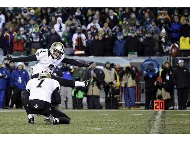 Saints edge Eagles in NFC wild-card