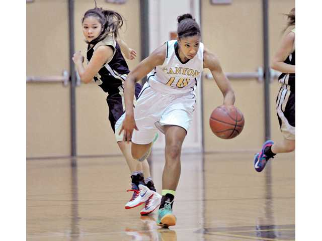Vintage win for Canyon girls hoops
