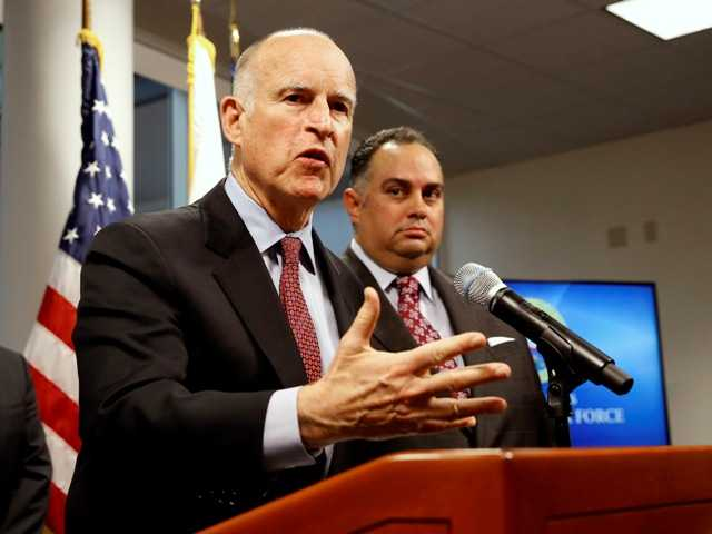 California Gov. Jerry Brown says he is seeking re-election