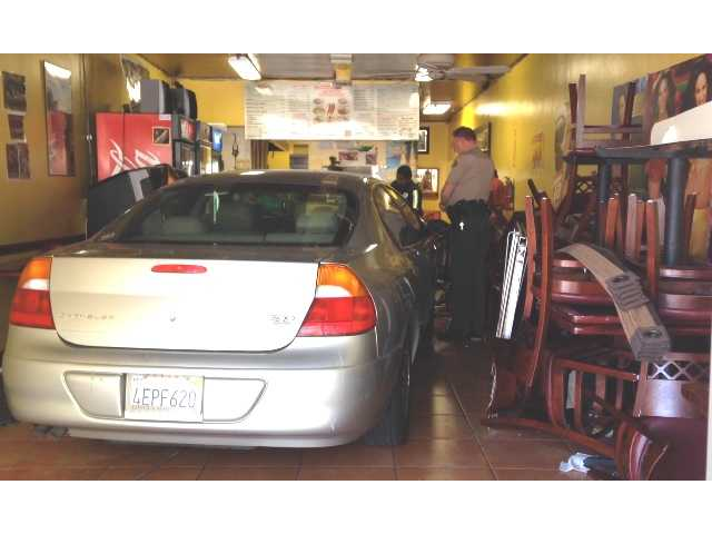 Car plows into Canyon Country restaurant