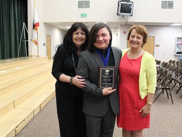 Joseph Castanon Wins Hart District ROP Outstanding Student of the Year 2014