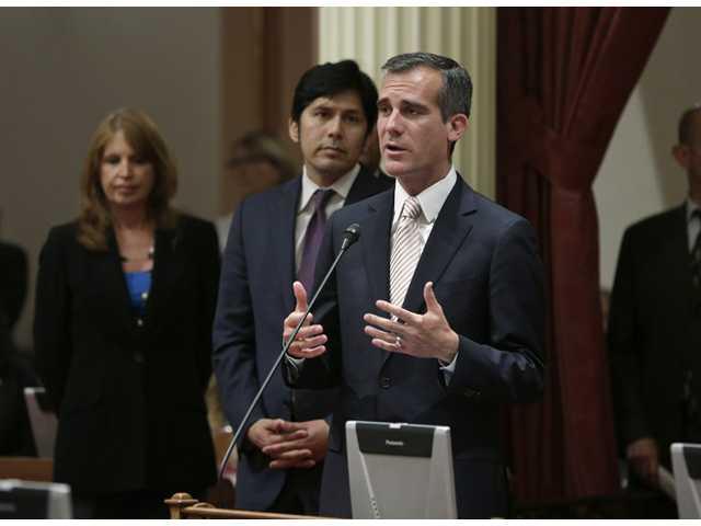 In Capitol, Los Angeles mayor seeks state aid