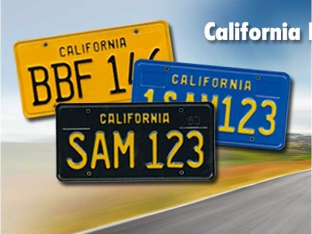 California Legacy License Plates will be pressed