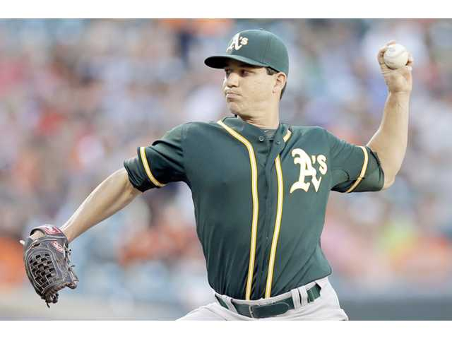 Milone helps A's win again
