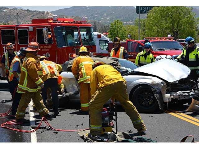 2 taken to hospital following 'Hamburger Hill' collision