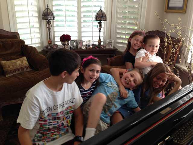 Sticky fingers, summertime and grandchildren