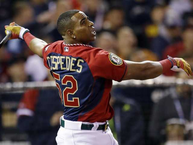 Cespedes wins HR Derby again